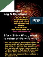 2 July Mathematics Log & Equations I