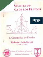 Mecánica de fluidos CINEMÁTICA Julio Borghi (Universidad de la República Oriental del Uruguay)