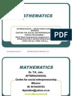 22 July Mathematics