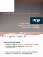 Relacion Medico Paciente Familia