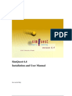 Installation and User Manual SimQuest 64 En