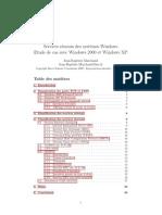 Services Reseaux Des Systemes Windows Etude de Cas Avec Windows 2000 Et Windows XP