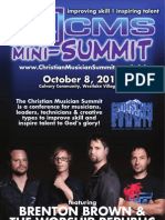 CMS Mini-Summit 2011 - Event Program 10/08/11