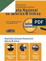 Resultados Campaña de Salarios al 31 de agosto 2011