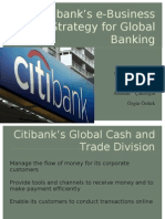 Citibank's E-Business Strategy for Global Banking(1)