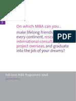 MBA Brochure 2008