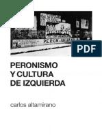 Altamirano Peronismo y Cultura de Izquierda
