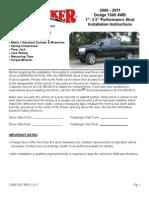 SkyJacker Dodge D6912ST Install Manual