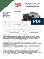 SkyJacker Dodge D45523 Install Manual