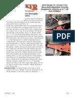 SkyJacker Dodge DTBA27 Install Manual