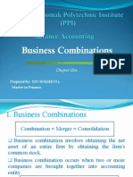 Business Combinations by Lecturer YIN SOKHENG, Master in Finance