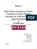 Best Practice Guidance on Human