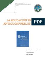 LA EDUCACIÓN EN LOS ANTIGUOS PUEBLOS MAYAS