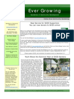 Growing People Newsletter - August 2010