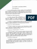 Texto de apoio - Relações entre o Direito do Trabalho  e outros ramos e ciências