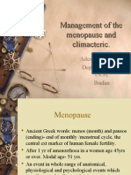 Management of the Menopause and Climacteric