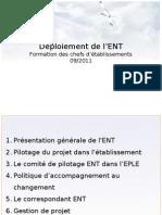 DSI Présentation Chef Etablissement - Formation ENT Vague 2