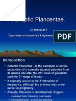 Abruptio Plancentae