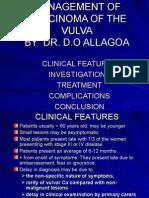 Management of CA Vulva 2