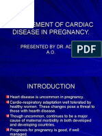 Management of Cardiac Disease in Pregnancy