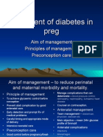 Management of Diabetes in Pregnancy