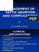 Management of Septic Abortion and Complications