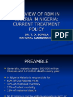 Overview of Role Back Malaria in Nigeria Current Treatment