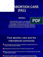 Post Abortion Care (Pac)