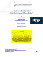 Sacroiliac Joint Exercises For Back Pain Relief