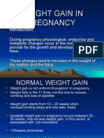 Weight Gain in Pregnancy