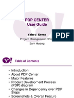 User guide of PDP(Product Development Process) Center of Yahoo Korea