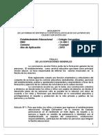 Reglamento Disciplina y convivencia C. Cervantino