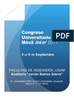 Agenda Congreso Universitario Movil