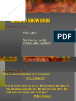 Areas of Knowledge the Arts