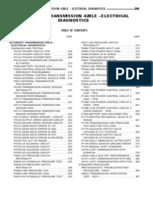 Dodge 42RLE Service Manual | Automatic Transmission | Transmission  (Mechanics)Scribd