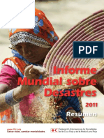 Informe Mundial sobre Desastres 2011 - Resumen