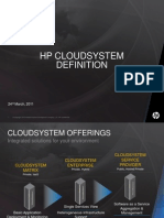 Cloud System Definition March 2011