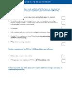 Exam Checklist 1