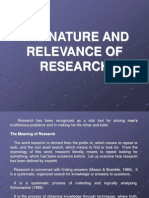 The Nature and Relevance of Research