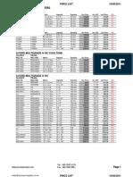 Process Supplies (19/8/11) Price List