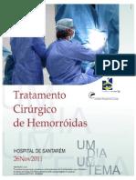 Tratamento Cirurgico de Hemorroidas - Cartaz