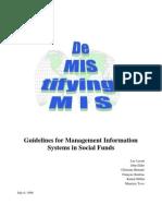 Guidelines MIS SocialFunds[WorldBank 1999]