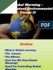 Global Warming-A Gretest Environmental Threat