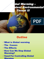 Global Warming-A Gretest Environmental Threat