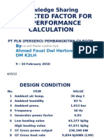 Corrected Factor for Gt Performance Calculation