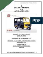 A Project Report on Atul Auto Ltd. by Jatin Trivedi Roll No.