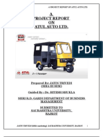 A Project Report on Atul Auto Ltd. by Jatin Trivedi Roll No.