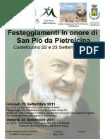 Locandina Festa San Pio 2011