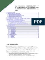 TEMA 20 LA ORACIÓN DELIMITACION Y CLASIFICACION ETC