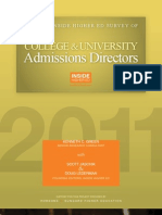 The 2011 Inside Higher Ed Survey of College and University Admission Directors